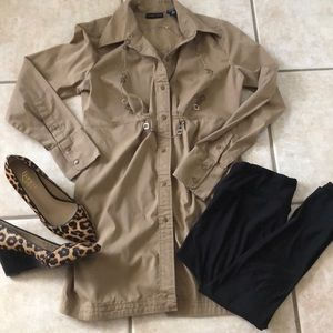 New York and Co Button Down Tunic